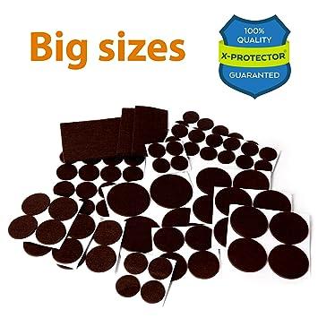 X PROTECTOR Premium XXL SIZES Pack Furniture Pads! BIG SIZES Of Heavy Duty  Felt