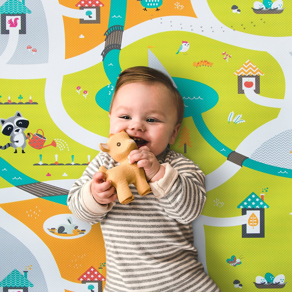 bbl v – M lti – Soft, Reversible and Safe Playmat Miles