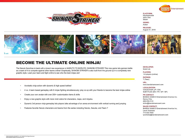Naruto To Baruto Shinobi Striker Online Game Code Ps4 Boruto Deluxe Edition Region 3 English Video Games
