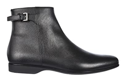 cf7492b110c Prada Men's Genuine Leather Ankle Boots Black UK Size 9.5 2TE077 053 ...