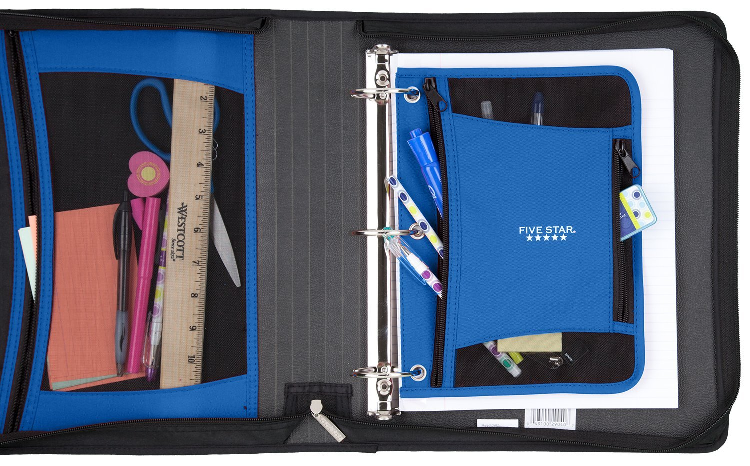 Five Star 2 Inch Zipper Binder, Ring Binder, Xpanz, Assorted Colors (29040) by Five Star (Image #12)