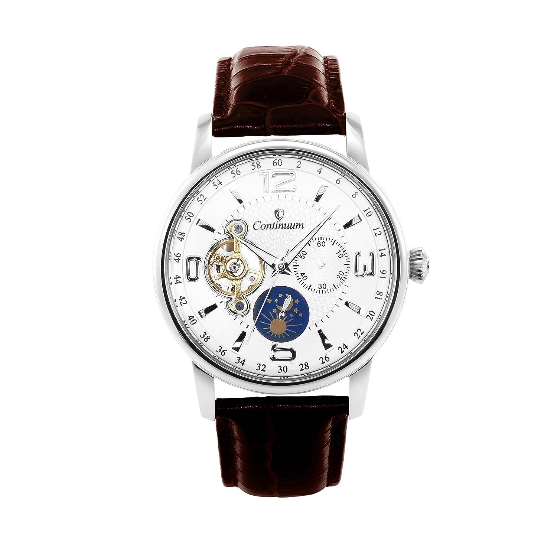 Continuum Herren-Armbanduhr Automatik Analog Leder Braun - C15H20