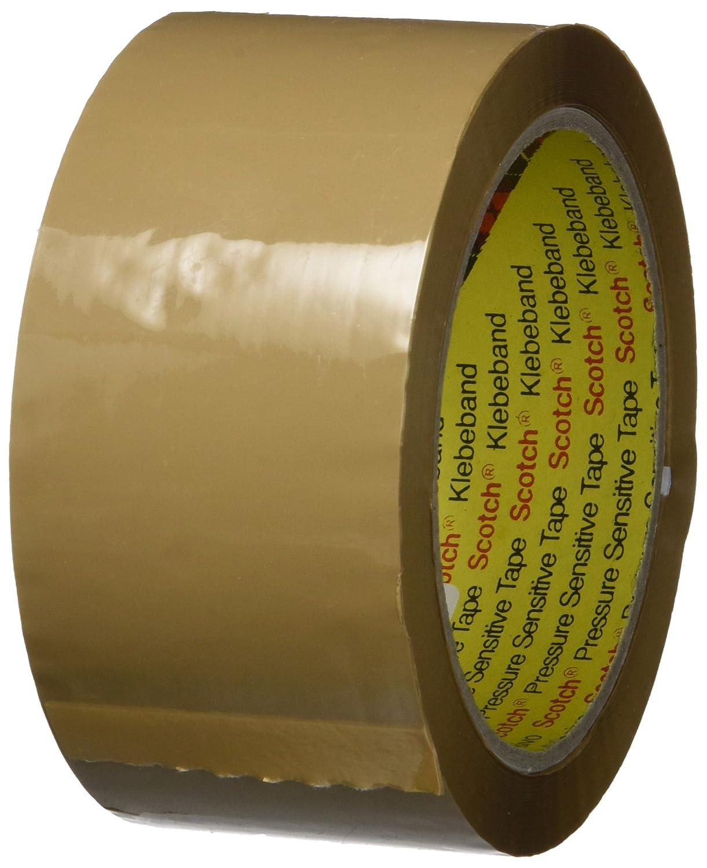 Scotch 3739T506 Ruban Adhé sif de Fermeture de Caisse Carton 50 mm x 66 m Transparent 3M
