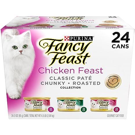Purina Fancy Feast - Comida para Gatos mojada, Pack de Plumas de Pollo, 3