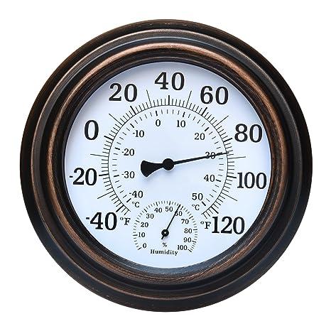 MIHE 8u0026quot; Metal Decorative Indoor/Outdoor Thermometer For Garden, Pool,  Kitchen,