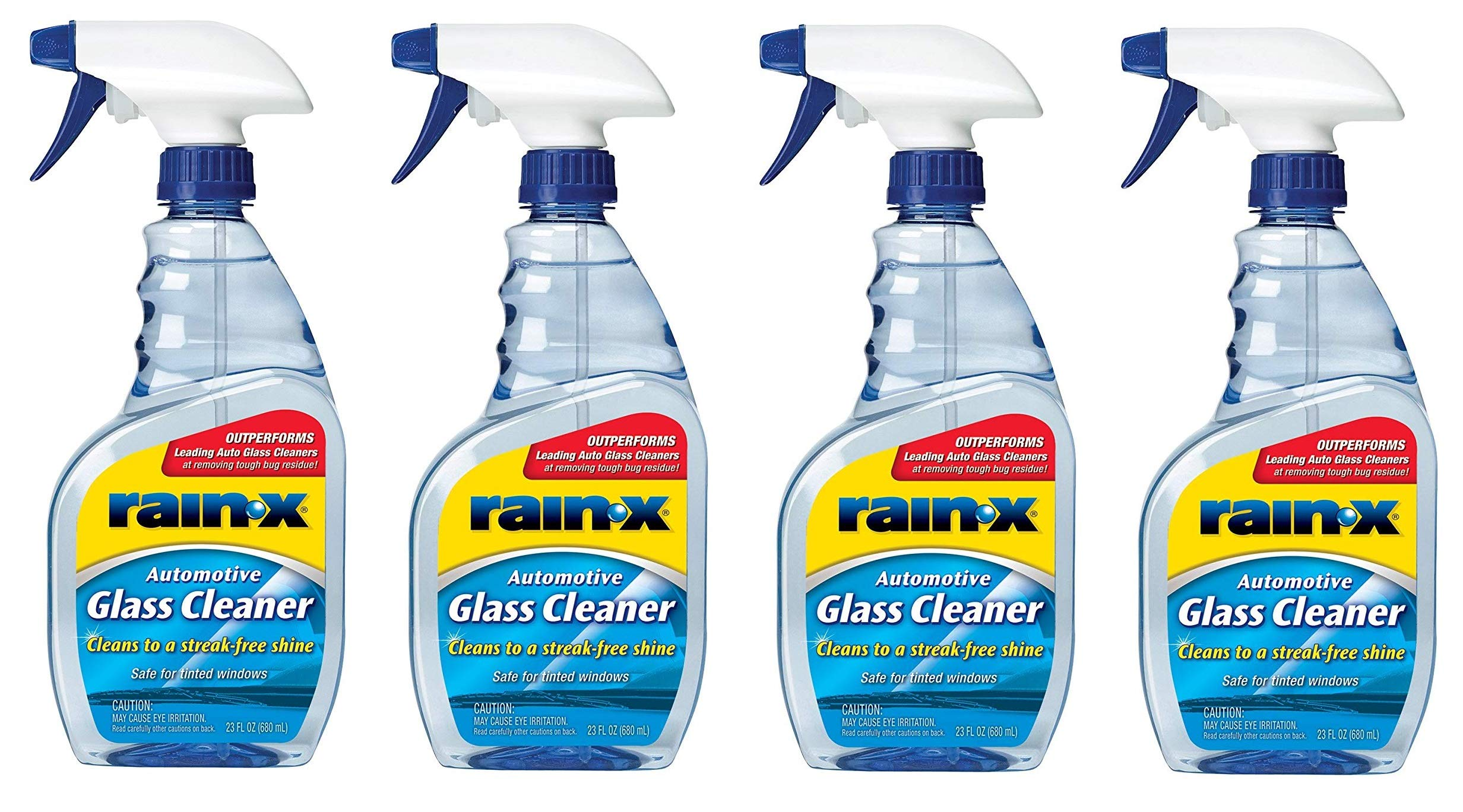RainX  630018 Auto Glass Cleaner, 23 fl. oz. (23 Fluid Ounce (Pack of 4))