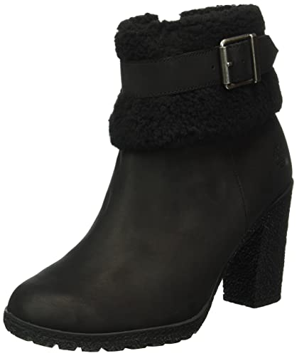 new products 8e929 6d9a1 Timberland Women s Glancy Teddy Fleece Fold Down Boot, Black Nubuck, ...