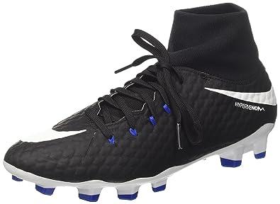 best service 47890 f4754 Nike Hypervenom Phelon 3 DF FG, Chaussures de Football Homme, (Noir Blanc