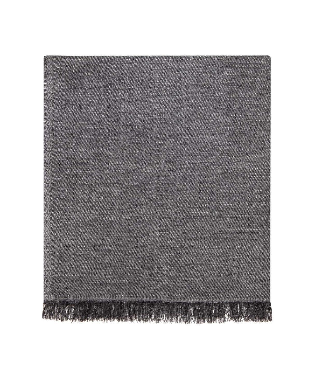 T.M.Lewin Navy Burgundy College Stripe Merino Wool Lightweight Scarf