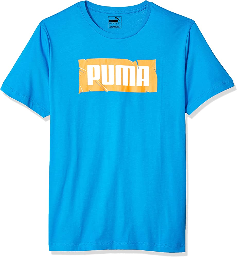 PUMA Wording tee Camiseta, Banderines índigo, M para Hombre ...