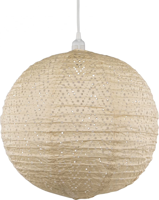 Allsop Home & Garden Soji Stella Nova Chevron Pearl – 18″ Indoor/Outdoor Tyvek Pendant Lamp (120V)