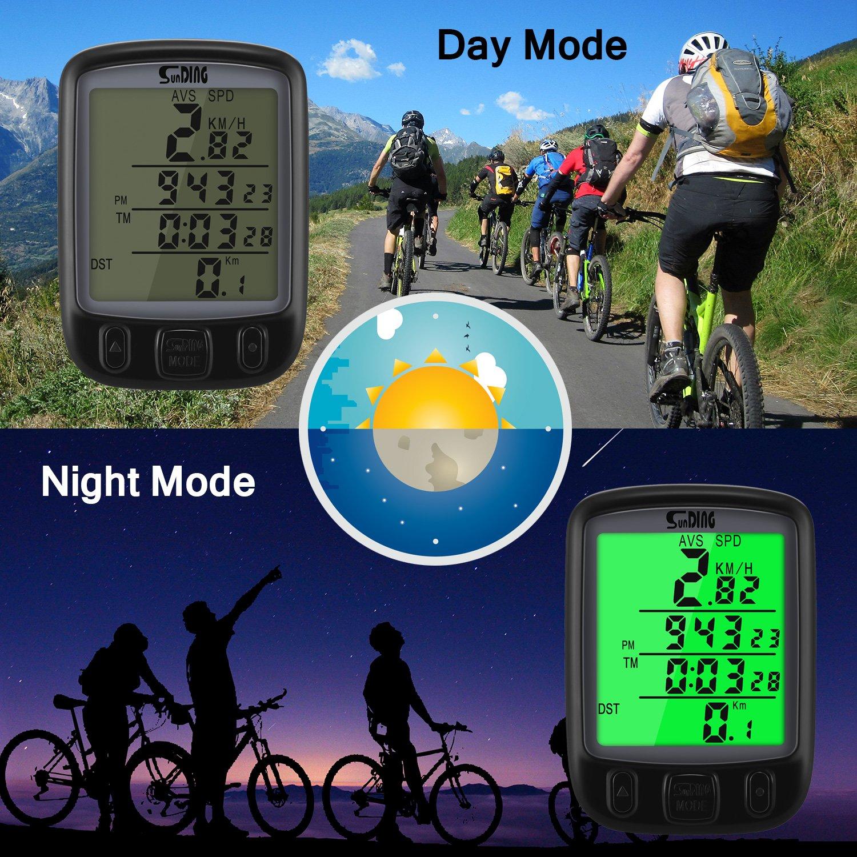 Konesky Bike Computer Veloc/ímetro Ciclismo Inal/ámbrico Bicicleta Od/ómetro Distancia A Prueba de Agua Pista para Senderismo Running Camping