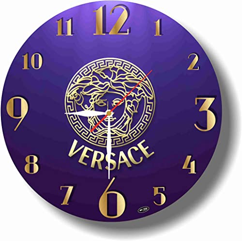 dudkaair Versace 11.4 Handmade Wall Clock – Get Unique d cor for Home or Office Best Gift Ideas for Kids, Friends, Parents and Your Soul Mates