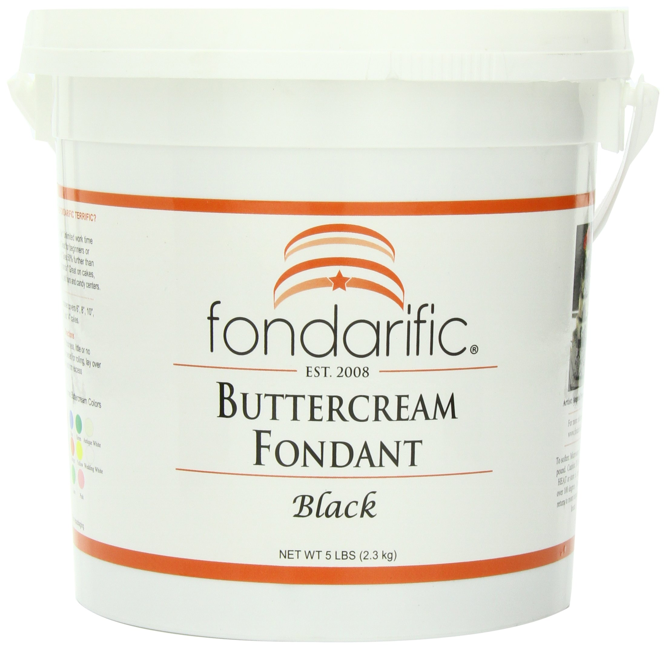 Fondarific Buttercream Black Fondant, 5-Pounds
