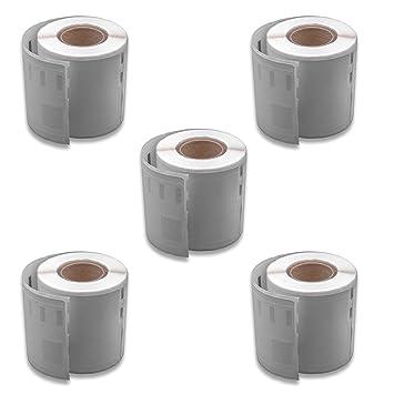 vhbw 5x set rollo de etiquetas adhesivas 46mmx 78mm para ...