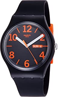 Swatch Unisex Orangio Wrist Watch # Suob723 Day & Date
