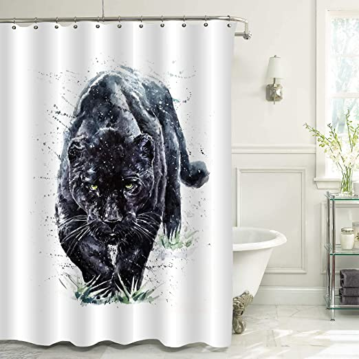 Amazon Com Mitovilla Black Panther Shower Curtain For Mens And