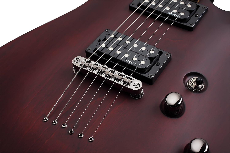 Schecter omen-6 6 cuerdas para guitarra eléctrica, color negro: Amazon.es: Instrumentos musicales