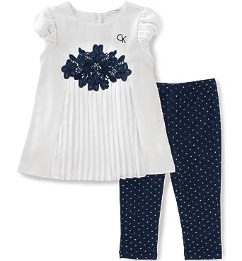 dd68dbf0a4e Amazon.com  Calvin Klein Girls  Two Piece Fashion Top and Legging Set   Clothing