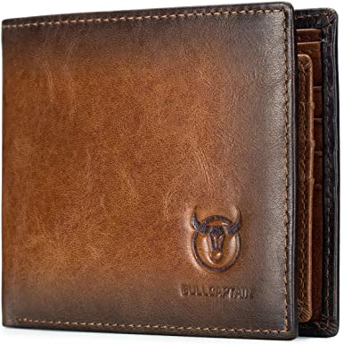 Wallet ID Card holder Bifold Coin Purse Pocket Men/'s Genuine Leather Money Clip