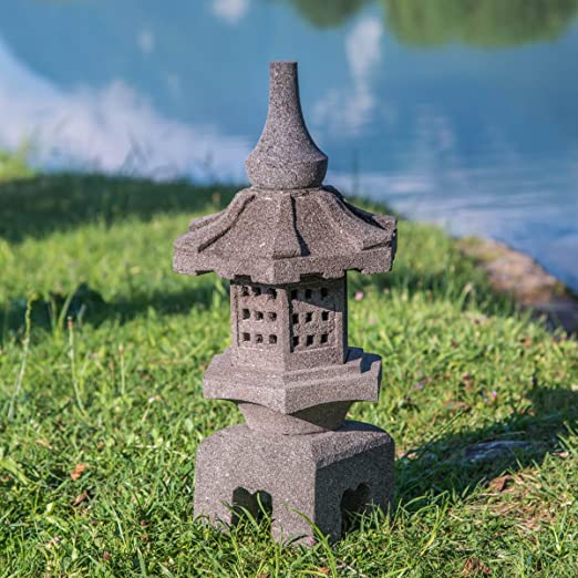 Wanda collection Linterna Japonesa Toro de Piedra de Lava 55 cm: Amazon.es: Jardín