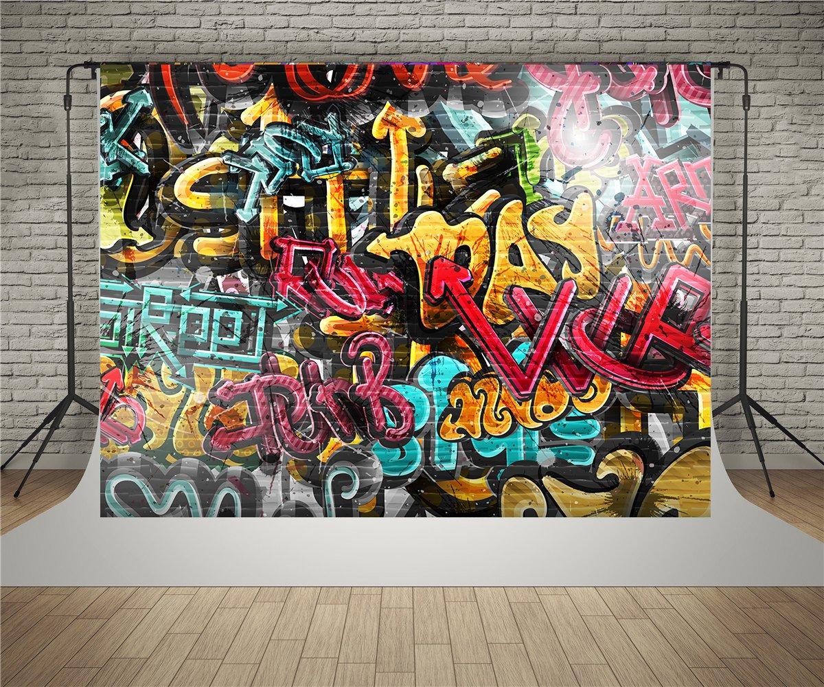 Waw street art graffiti backdrop 2 2x1 5m colour brick amazon co uk camera photo