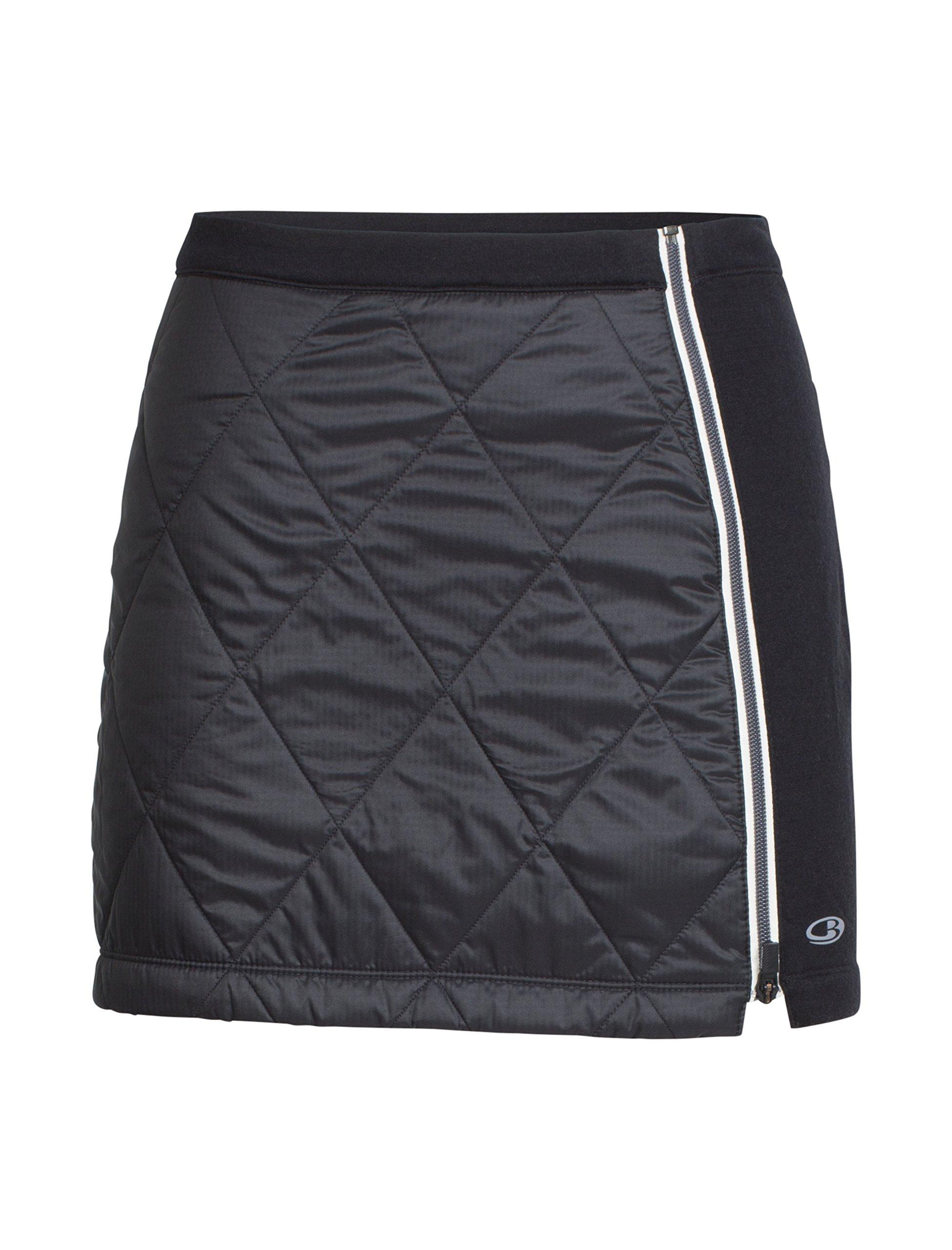 Icebreaker Merino Women's Helix Skirt, Black/Snow, Large