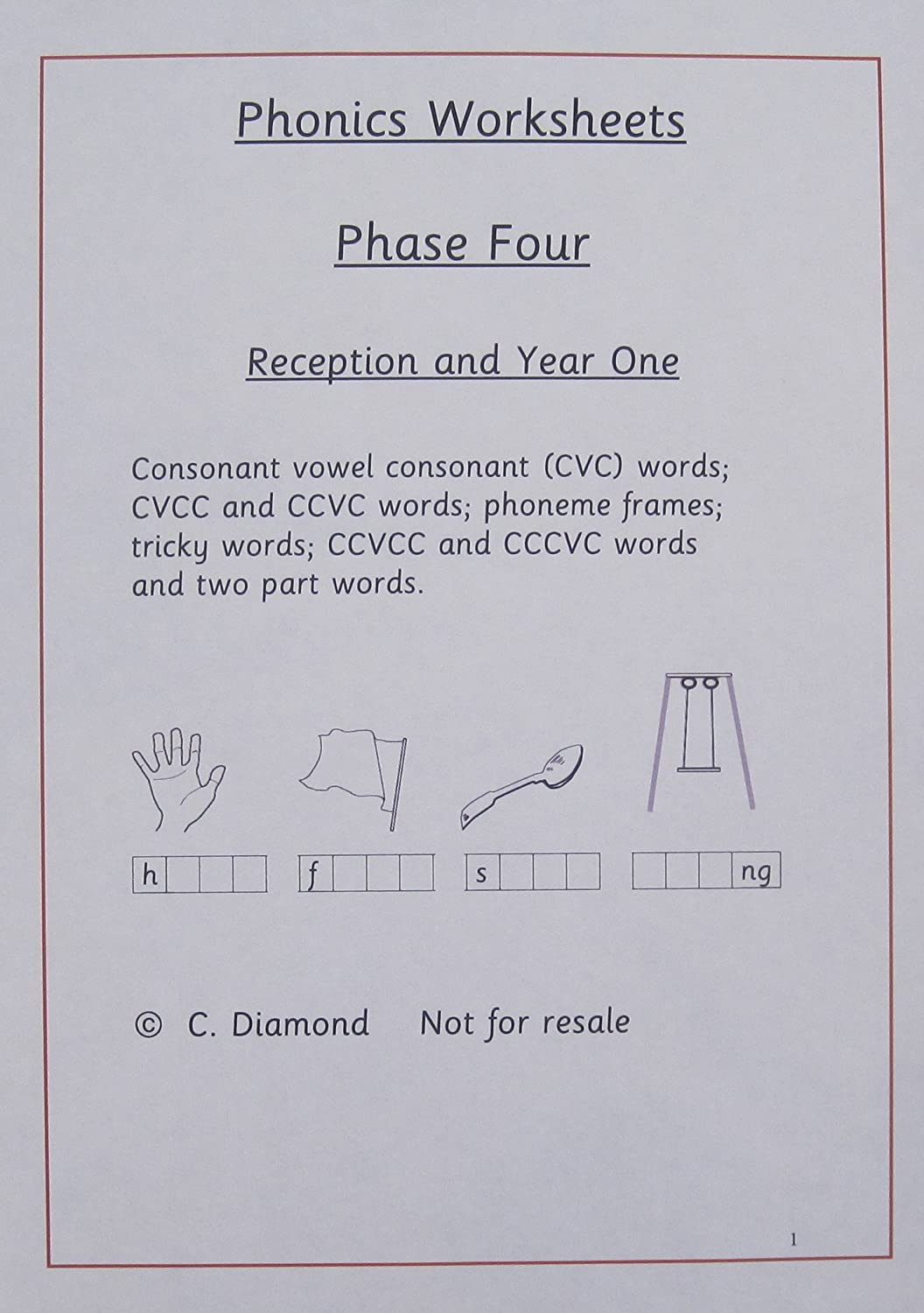 Phase Four Phonics Worksheets to Print out: Christine Diamond ...