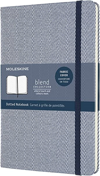 Moleskine - Cuaderno Blend Collection, Cuaderno con Hojas de Puntos, Tapa Dura de Tela con Motivo...