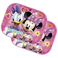 ARDITEX Set 2 Pare-Soleil Minnie Mouse avec Poster 44 x 36 cm