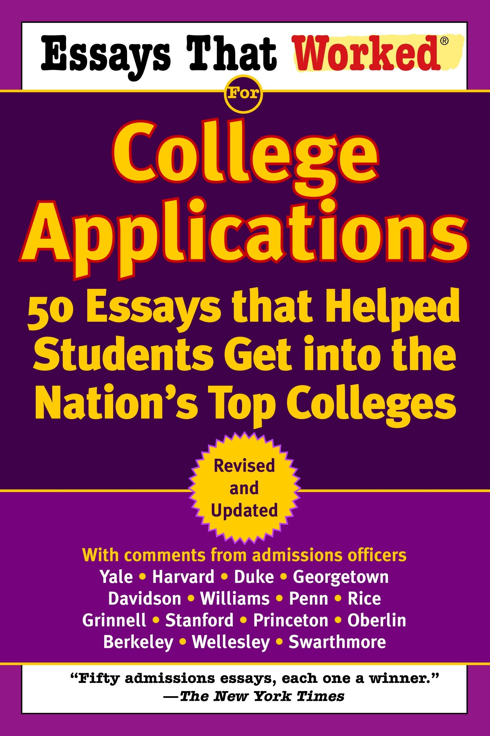 Download Essays That Worked for College Applications: 50 Essays that Helped Students Get into the Nation's Top Colleges pdf epub