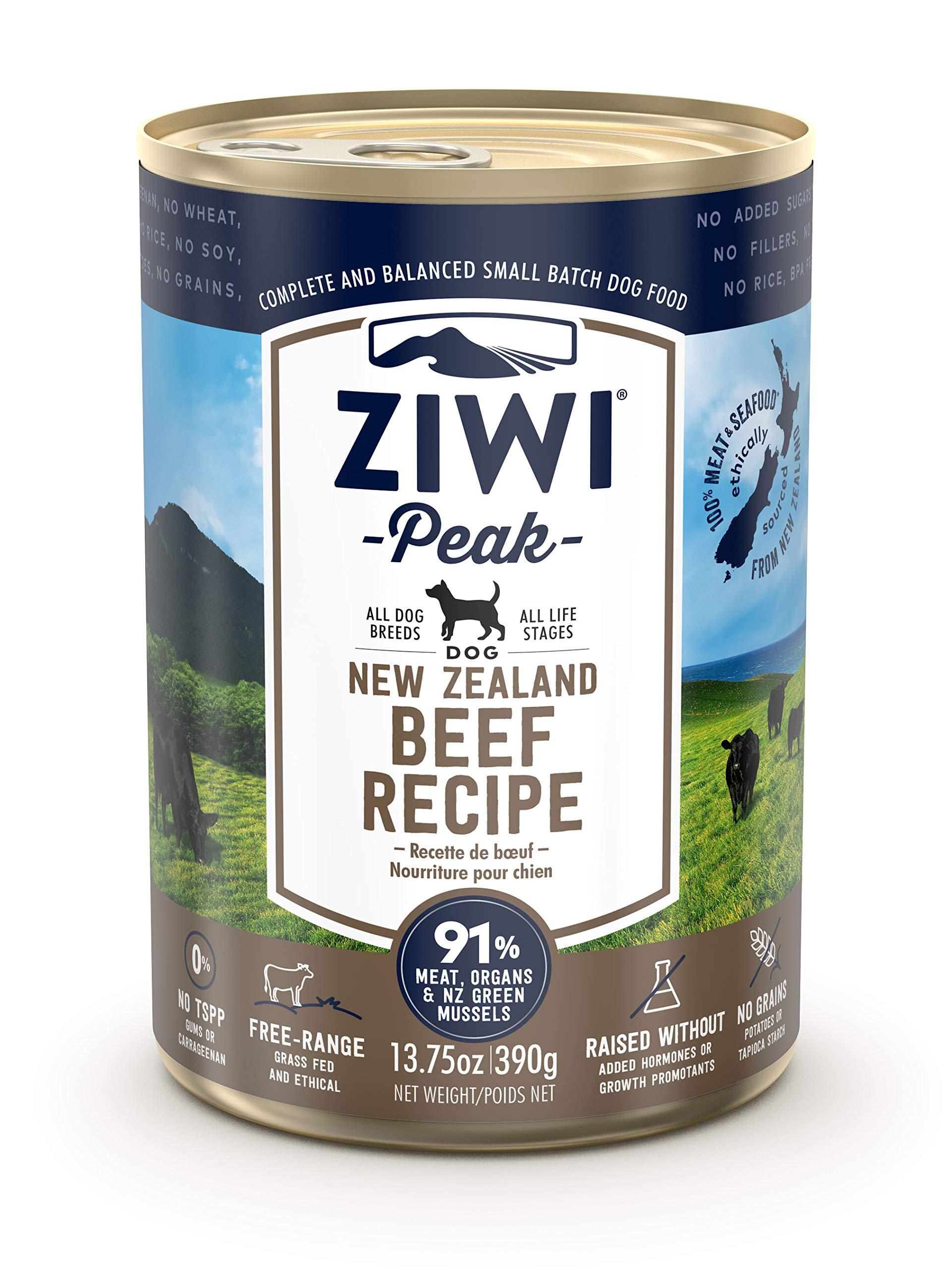 Ziwi Peak Canned Beef Recipe Dog Food (Case of 12, 13.75 oz. each) by Ziwi Peak