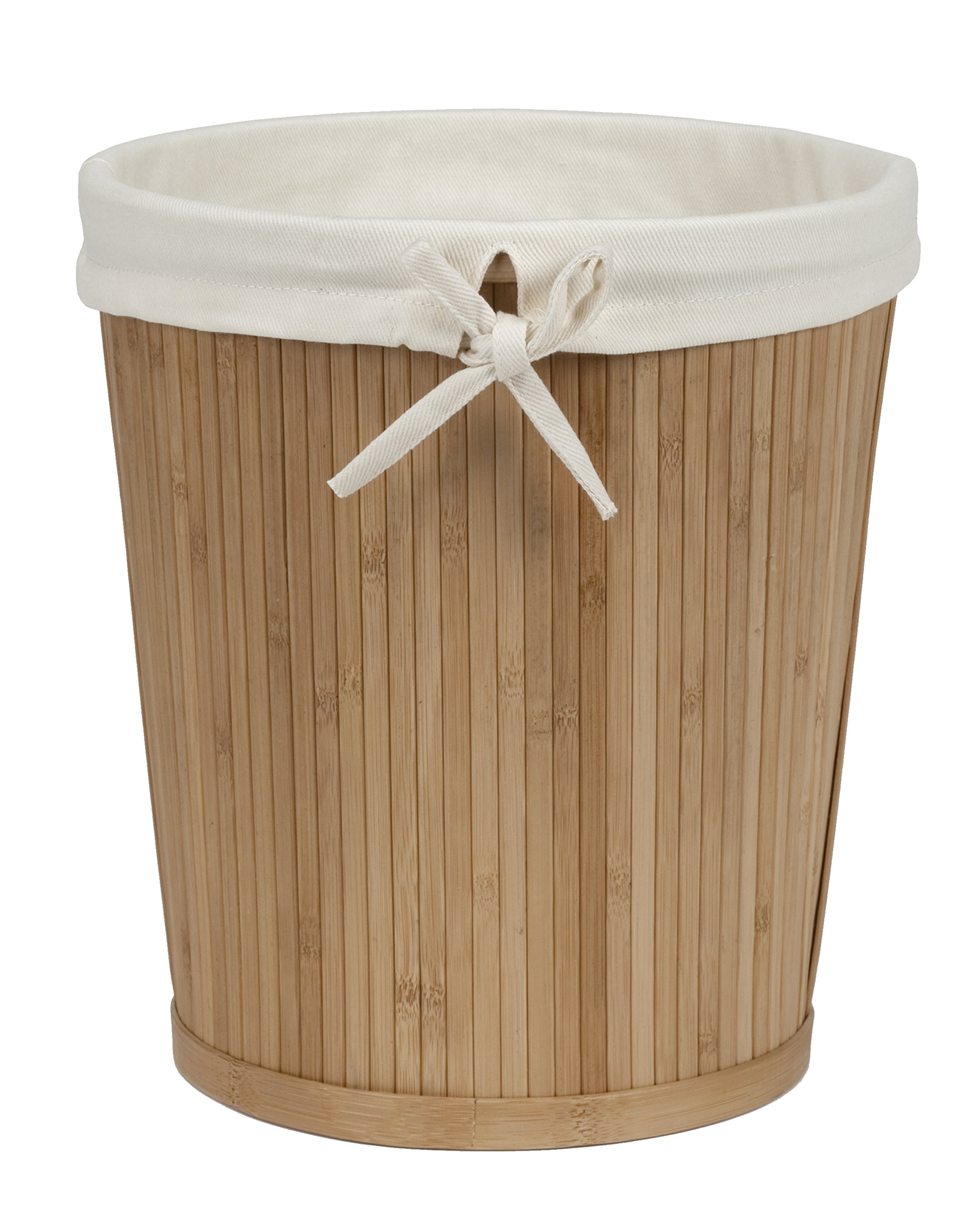 Creative Bath Products Eco Styles Collection Round Waste Basket, Bamboo