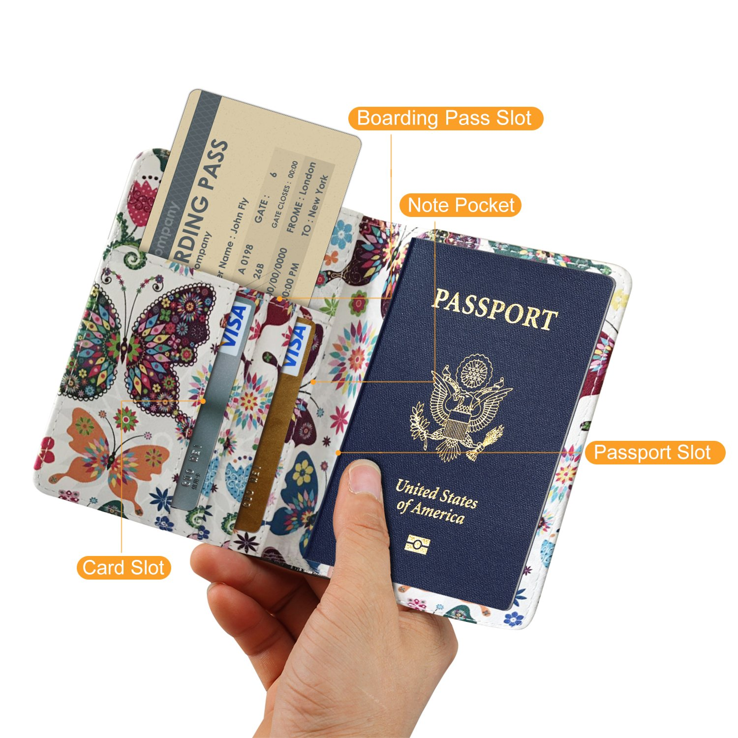 Passport cover holder travel wallet for men women leather passport cover holder travel wallet for men women leather passport case securely holds passport business cards credit cards boarding passes colourmoves