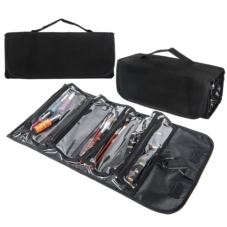 SHANY Jet Setter Travel Makeup Bag – Clear with Matte Black Trim