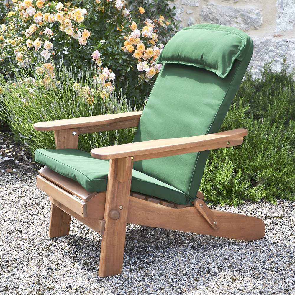 Cushions chair pads and more - Amazon Com Plant Theatre Adirondack Chair Luxury High Back Cushion With Head Pillow Patio Lawn Garden