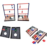 SPORT BEATS 3 in 1 Combo Toss Games,Ladder Ball Toss,Corn Hole Boards Bean Bag Toss Game, Washers Toss Game,Yard Outdoor Family Game-Backyard Fun Camping Games (3 in 1 Combo Games)