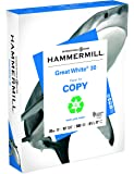 Hammermill Paper, Great White 30% Recycled Printer Paper, 8.5 x 11 Paper, Letter Size, 20lb Paper, 92 Bright, 1 Ream / 500 Sheets (086710R) Acid Free Paper