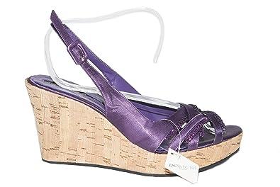 Amazoncom Silvana 776s Italian Womens Purple Wedge Strappy