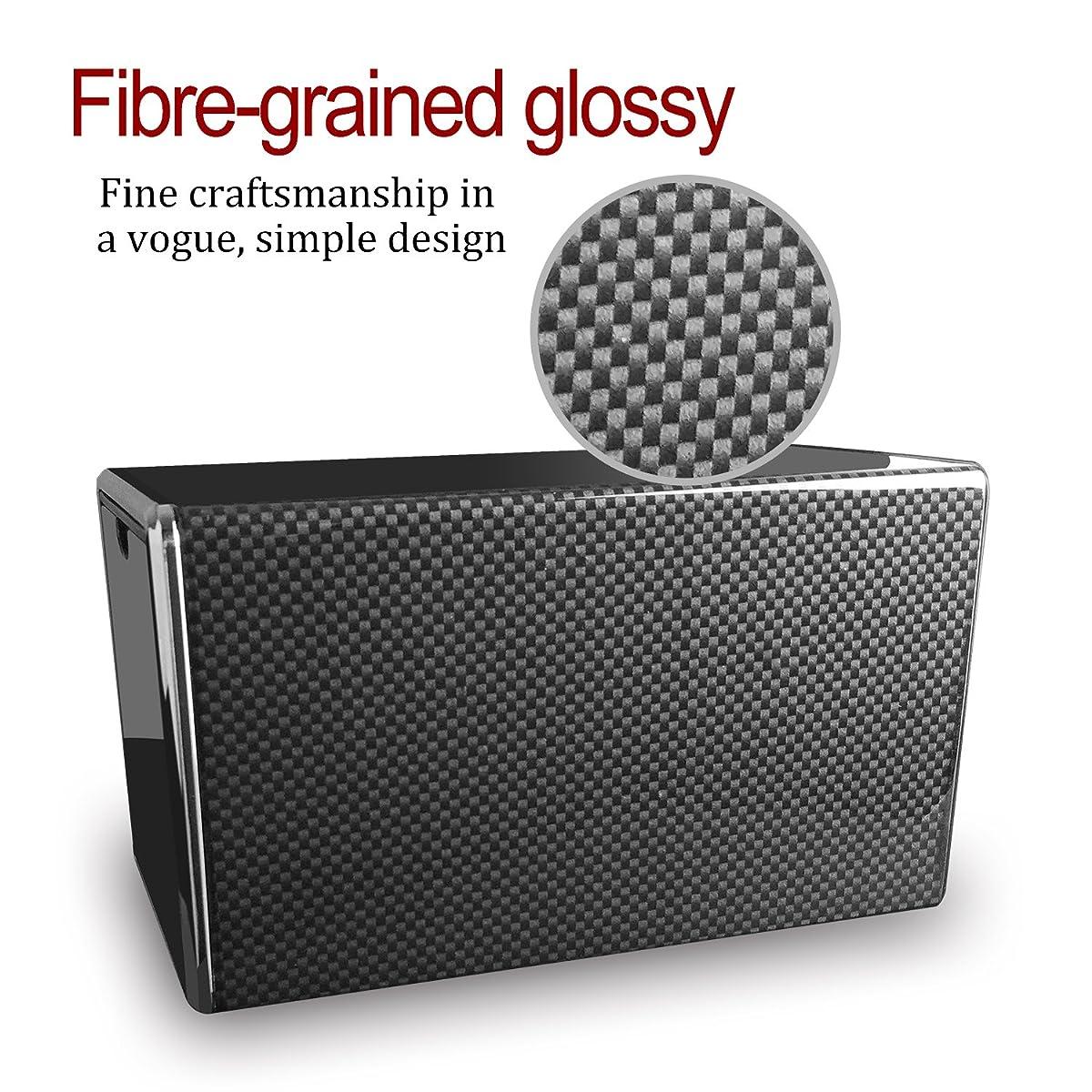 POUILLA Carbon Fibre Piano Finish Automatic Single Watch Winder Glossy SG0178