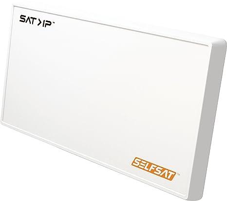 Selfsat IP21 SAT2IP / SAT>IP Flachantenne / Satellitenschüssel / 2X Lagacy Anschlüße für herkömliche Receiver / TV / IP-Daten