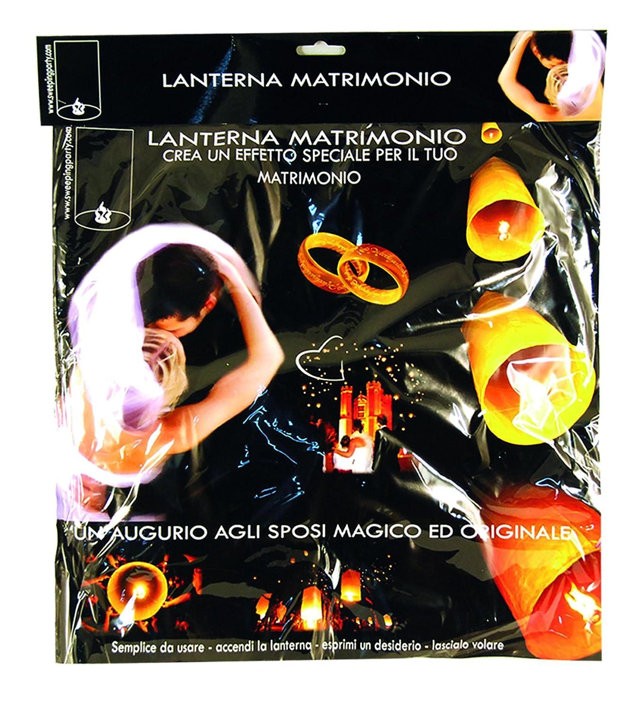 Ciao - Sky Lantern Set 4 Lanterne dei Desideri, Champagne Matrimonio, Bianco Ciao SRL