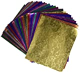 Hygloss Embossed Metallic Foil Paper, 9 X 10 in, 30