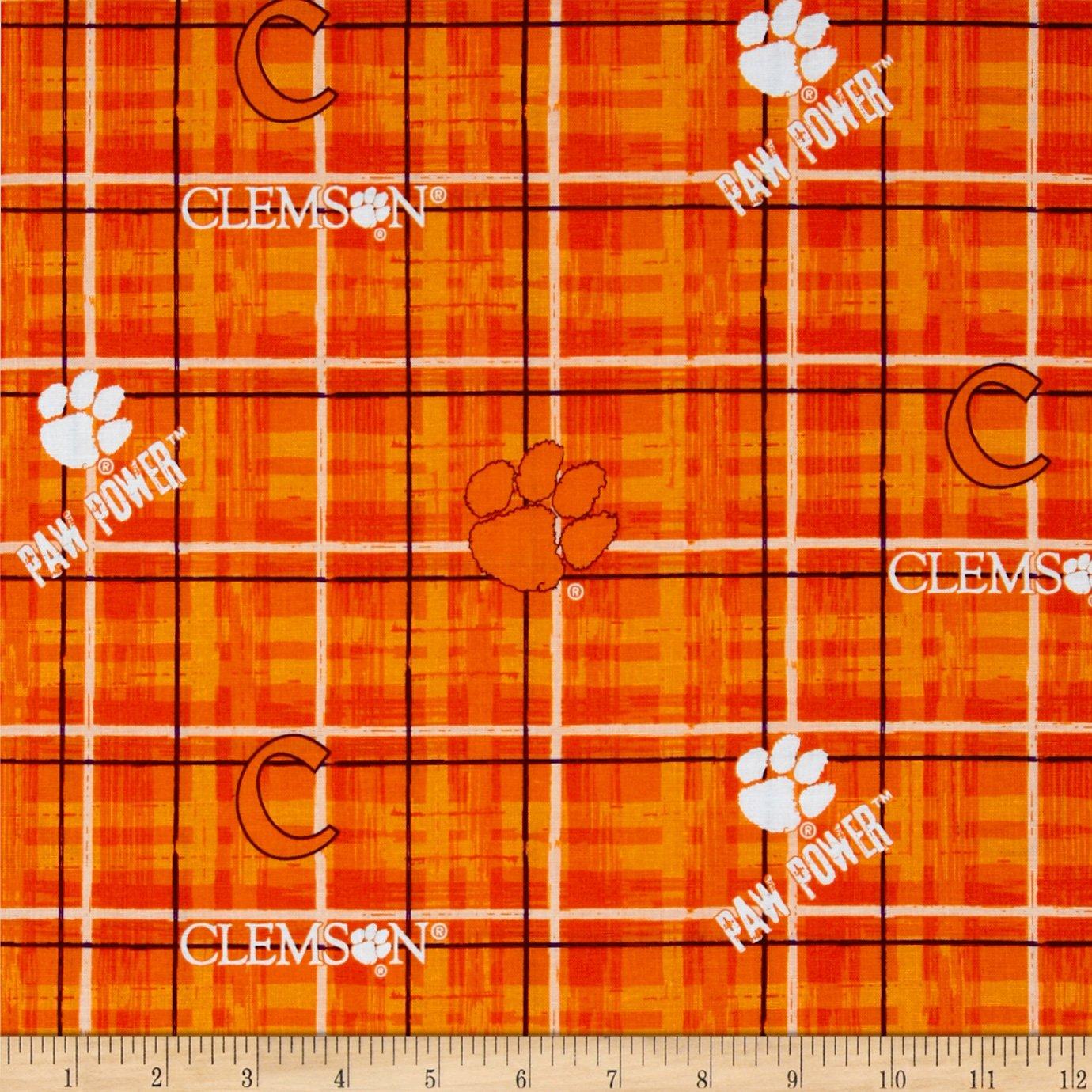 32780036b9b Amazon.com: Sykel Enterprises Collegiate Cotton Broadcloth Clemson Tigers  Fabric by The Yard Multi