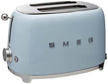 Smeg TSF01PBUS 50's Retro Style Aesthetic 2 Slice Toaster