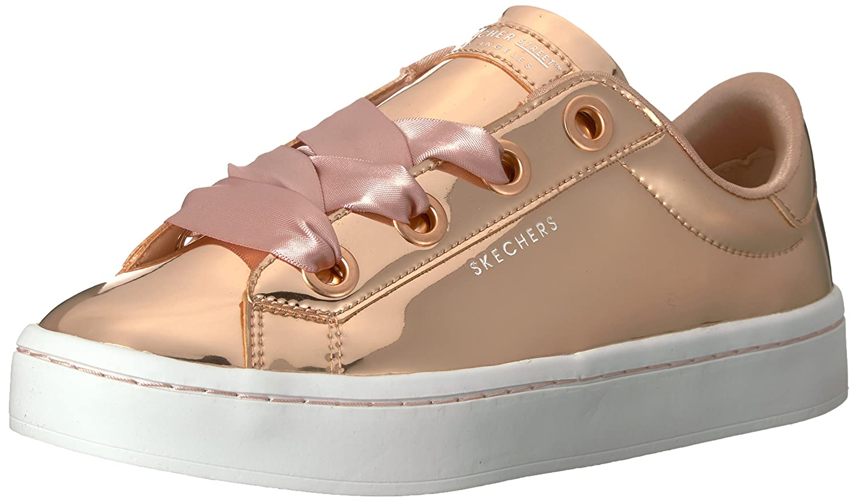 Skechers Women's Hi-Lite-Metallic Patent Sneaker B0745KRFDZ 8.5 B(M) US|Rosegold