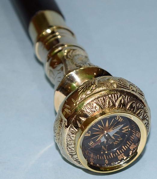 """Walking Stick Brass Comfartable Handle Knob Wooden Victorian Designer Cane 36/"""""""
