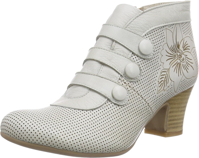 Virus 25547 - Zapatos de tacón Cerrados de Cuero Mujer, Color Marfil, Talla 35: Amazon.es: Zapatos y complementos