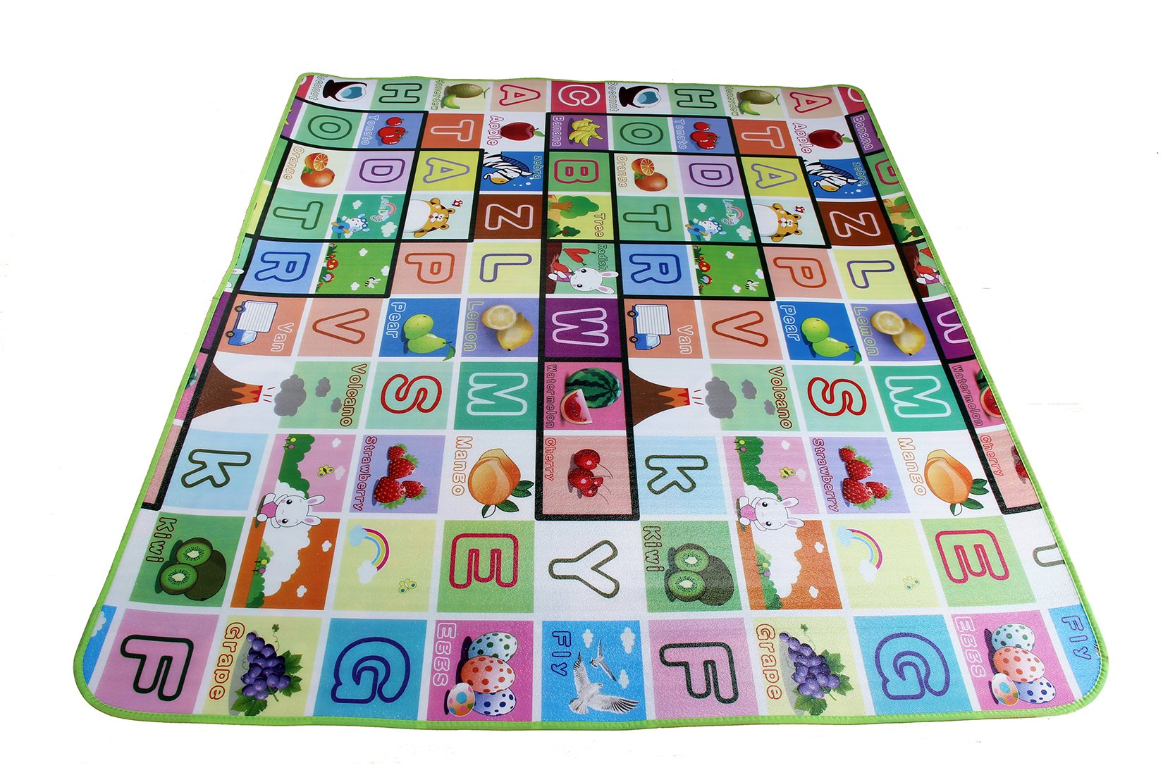 Garwarm 7159inches Extra Large Baby Crawling Mat Baby Play Mat Game Mat,0.2-Inch Thick (US STORE) by Garwarm (Image #3)