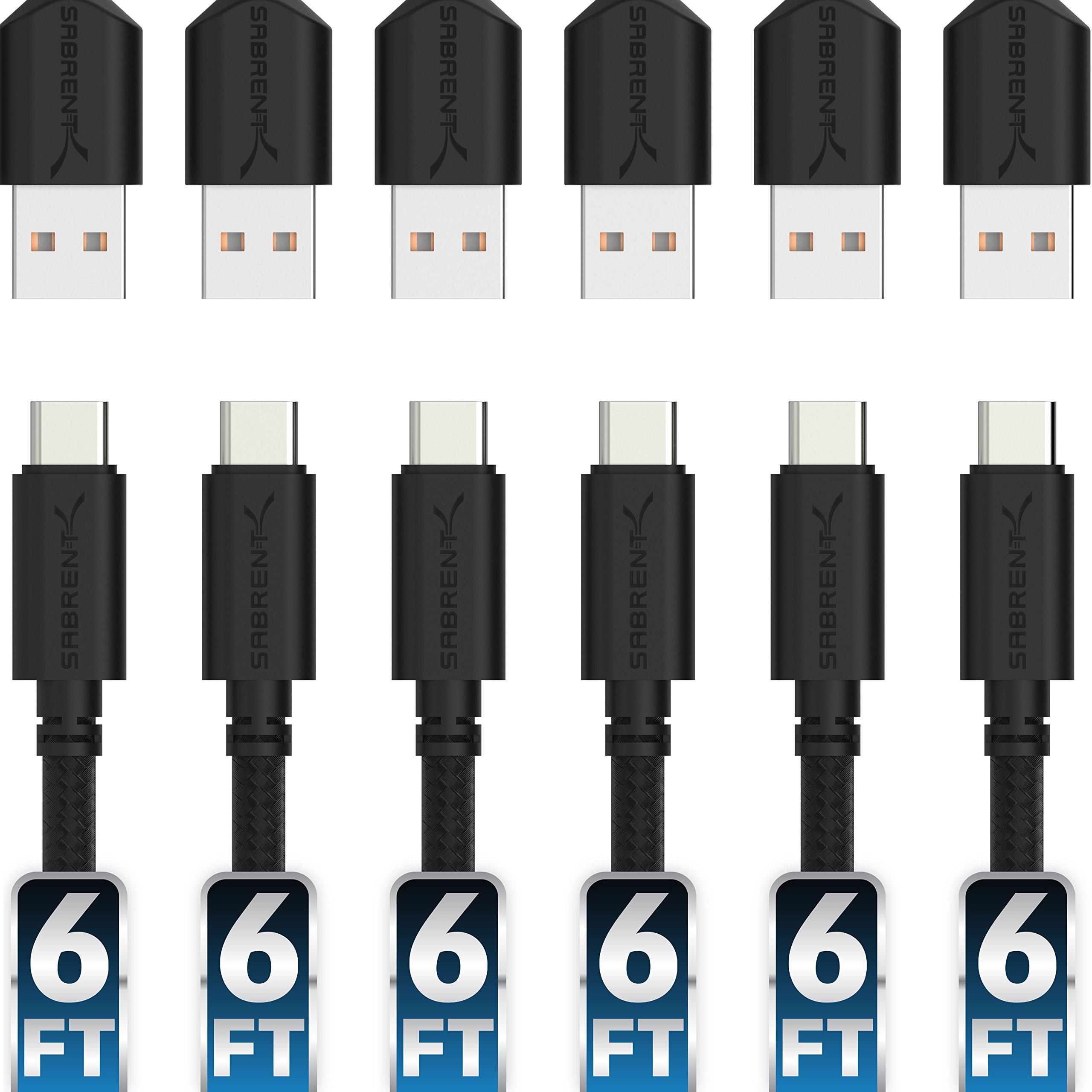 Cable USB-C 1.84mt. 6 Un. SABRENT